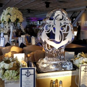 Anchor with Monogram Table Centerpiece