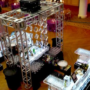 Ballroom Centerpiece Bars and Ice Curtain Display Ice Sculpture