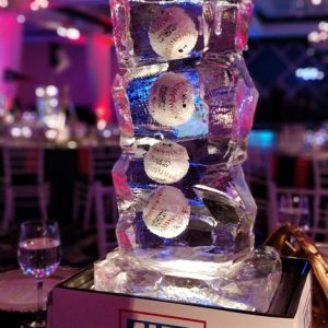 "Baseball Table Centerpieces - 24"" Tall (including Lighted Display Box)"
