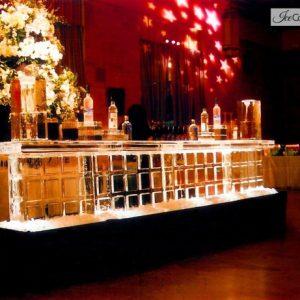 "Block Style Ice Bar - 12' Long, 45"" Bar Height"