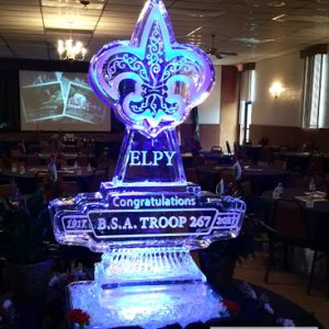 "Boy Scout Ice Sculpture - 35"" x 50"", 2 Blocks"