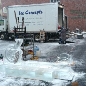 Building a 10 Block Harley, Carlisle Ice Art Fest 2017 - Tony Young, Zach Hill