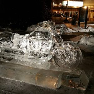 Finished Harley, Carlisle Ice Art Fest 2017