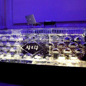 "DJ Stand Ice Bar - 8' Long, 45"" Bar Height"