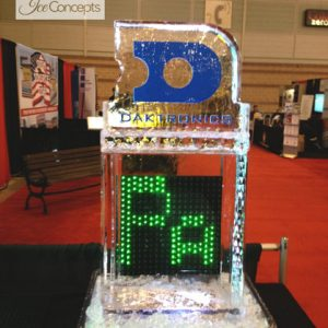 "Daktronics Light Board Frozen In Ice - 20"" x 50"", 1.5 Blocks"