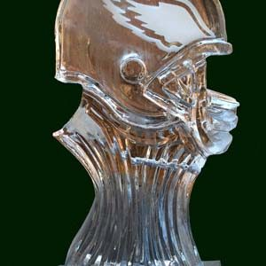 """Eagles Luge Ice Carving - 20"""" x 40"""", 1 Block"""