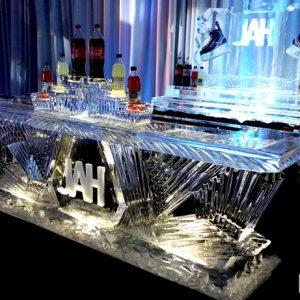 "Hockey Theme Bar And Bar Back - 9' Long, 45"" Bar Height"