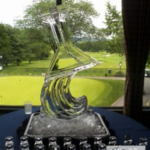 """Inverted Martini Glass Luge Ice Carving - 20"""" x 40"""", 1 Block"""