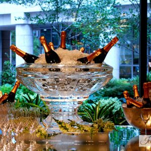 """Large Champagne Bowl Ice Carving - 30"""" x 30"""", 3 Blocks"""