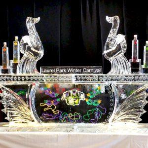 "Mardi Gras Style Ice Bar - 8' Long, 45"" Bar Height"