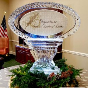 "Lititz Senior Living Event Ice Carving - 40"" x 40"", 1.5 Blocks"