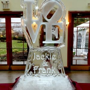 Love with Names Ice Carving