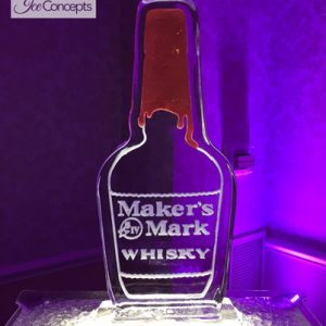 "Maker's Mark Brand Campaign Ice Carving - 20"" x 40"", 1 Block"