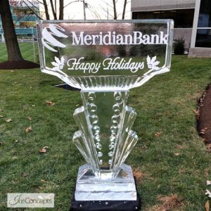 """Meridian Bank Campaign Ice Carving - 40"""" x 55"""", 2 Blocks"""