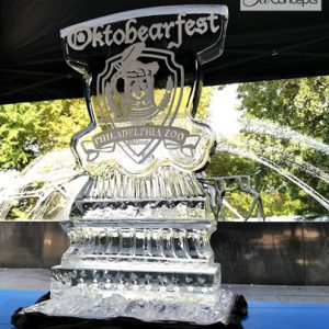 "Philadelphia Zoo Annual Fundraiser Ice Carving - 30"" x 60"", 3 Blocks"