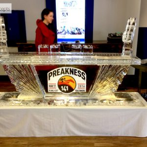 "Preakness Ice Bar, Pimlico - 8' Long, 45"" Bar Height"