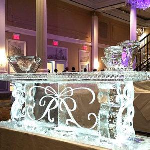 Scroll Wedding Ice Bar