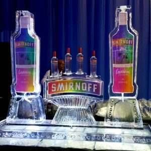 "Smirnoff Luge Display Ice Carving - 80"" x 80"", 6 Blocks"