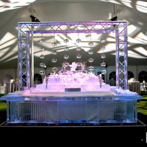 "10 Foot Square Ice Bar and Curtain Display - 120"" x 120"", 35 Blocks"