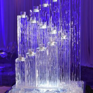 "14 Candle Holder Ice Sculpture - 24"" x 35"", 2 Blocks"