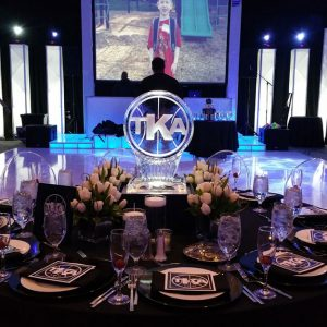 TKA Initials Table Centerpieces