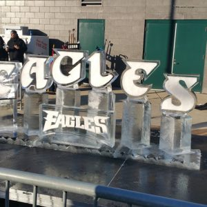 2018 Eagles Playoffs Live Ice Carving Exhibition