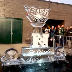 2018 NFC Championship Game Live Ice Carving Exhibition
