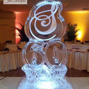 60 with Initial Ice Sculpture
