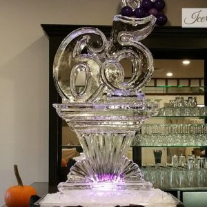 "65 on Pedestal Ice Sculpture - 20"" x 40"", 1 Block"