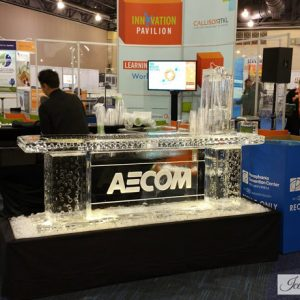 "AECOM Trade Show Ice Bar - 8' Long, 45"" Bar Height"