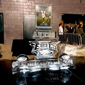 Akers Eagles Hall Of Fame Live Ice Carving Exhibition
