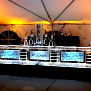 "Alexion Ice Bar - 16' Long, 45"" Bar Height"