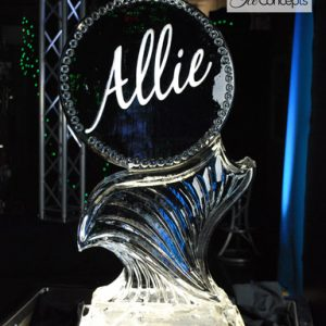 "Allie Ice Sculpture - 20"" x 40"", 1 Block"