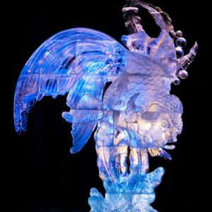 """Aqua Queen"" 2007 World Ice Art Championships, Fairbanks, Alaska - Kevin Gregory, Junichi Nakamura, Shinichi Sawamura, Ben Rand"