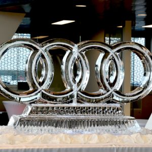 "Audi Ice Sculpture - 60"" x 30"", 3 Blocks"