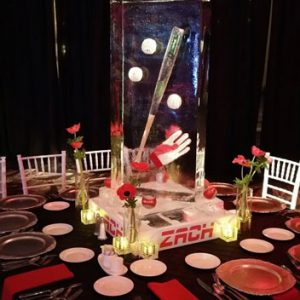Baseball Bat Table Centerpiece