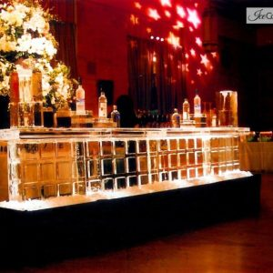 "Block Style Ice Bar - 12' Long, 45"" Bar Height"