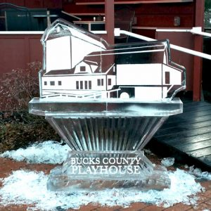 Bucks County Playhouse Live Ice Carving Exhibition