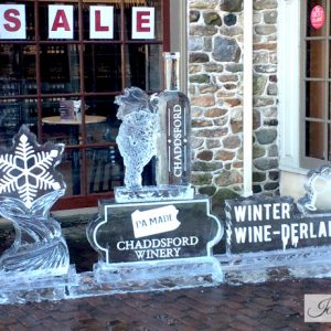 Chadds Ford Winery Live Ice Carving Exhibition