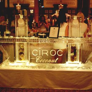 "Ciroc Coconut Ice Bar - 9' Long, 45"" Bar Height"