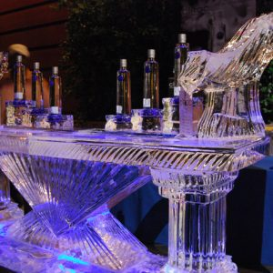 "Ciroc Purple Style Ice Bar - 8' Long, 45"" Bar Height"