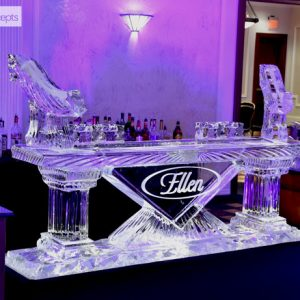"Contemporary Style Ice Bar - 8' Long, 45"" Bar Height"
