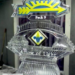 "Cub Scouts Arrow of Light Ice Sculpture - 40"" x 55"", 3 Blocks"