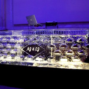 "DJ Stand Ice Bar - 8' Long, 45"" Bar Height"