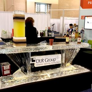 "DLR Trade Show Ice Bar - 8' Long, 45"" Bar Height"