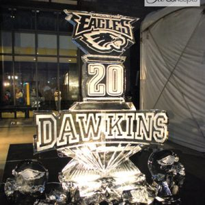 Dawkins Eagles Hall Of Fame Live Ice Carving Exhibition
