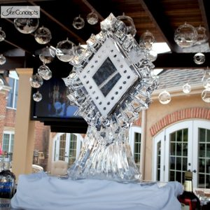 Art Deco Luge Ice Carving