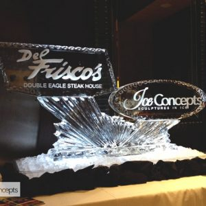 "Del Frisco's Ice Concepts Event Ice Carving - 45"" x 60"", 2.5 Blocks"