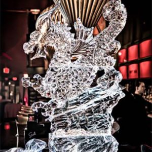 "Dragon Ice Sculpture Luge - 30"" x 55"", 3 Blocks"