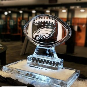 "Eagles Locker Room Ice Sculpture - 40"" x 40"", 2 Blocks"